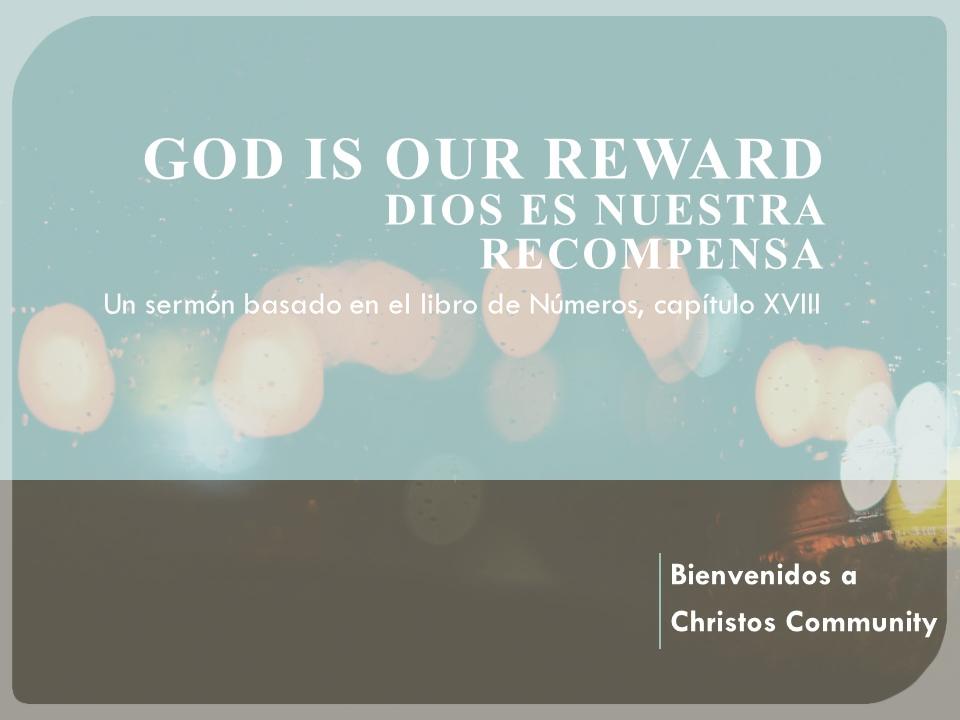 Dios es nuestra recompensa – Números 18